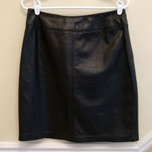 Croft & Barrow Lambskin Leather Pencil Skirt